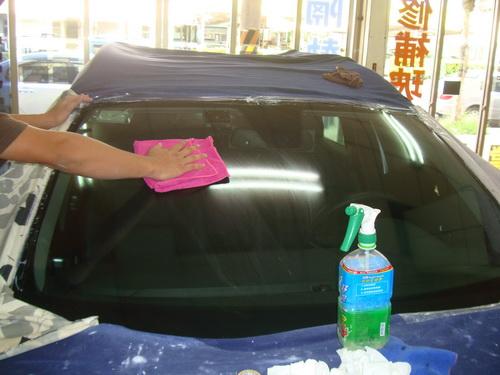 桃园 中坜 立耀 汽车玻璃 挡风玻璃 隔热纸 前挡 刮伤 修补